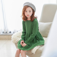 Buy Girl Evening Dress Kids Autumn Long Sleeve Princess Dresses Baby Girls Dress Party 2-14Y Green Costume Children Clothes for $14.80 in AliExpress store