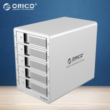 ORICO Tool Free Aluminum 5 bay 3.5 USB3.0 SATA HDD Case HDD Enclosure 5bay HDD Docking Station Case-Silver(9558U3)