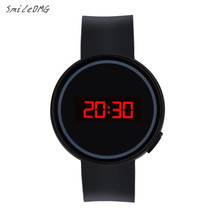 SmileOMG Hot Sale Fashion Men Women Watch LED Touch Screen Date Silicone Wrist Black Watch Free Shiping Christmas Gift ,Aug 29