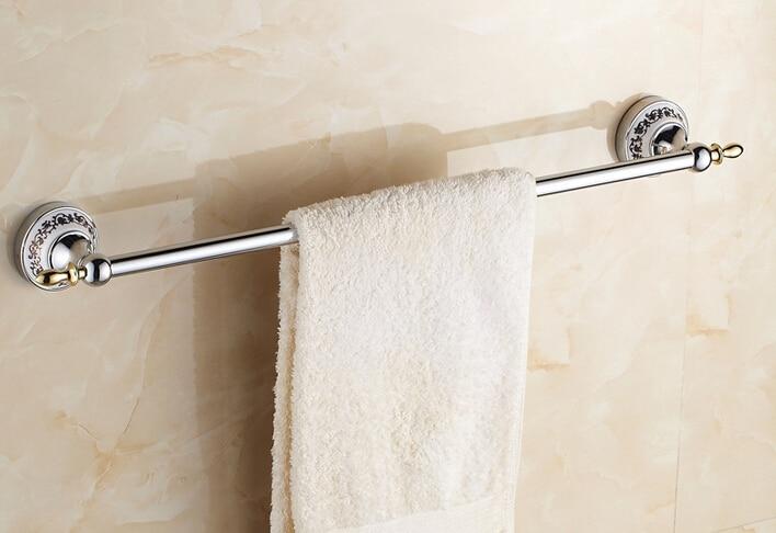 high quality 60cm Europe style chromegold finish brass classical design bathroom single towel bar towel rail bathroom acessories<br>