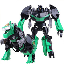 Big Size Plastic Robot Toys Movie 4 Dinosaur Classic Robot Car Toys Action Figures Good Toys Boys Toys Gift(China)