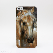 291-HOP Head Horse Transparent Hard Back Cover Case for Huawei Ascend P6 P7 P8 Lite Honor 4X 4C 6 7 G7