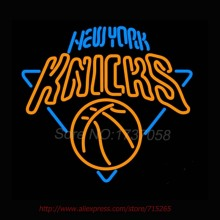 Charlotte Present New Knicks NEON SIGN Basketball Neon Bulbs Neon Light Signs Custom Real Glass Tube Recreation 24x24