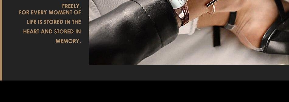 ساعة اليد سوار كوارتز  مطلية بالذهب 6