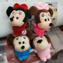 10cm Lovely Mickey Mouse Plush Toy Minnie Doll Christmas birthday gift Plush Doll Stuffed Animals Plush Toys for Children's Gift