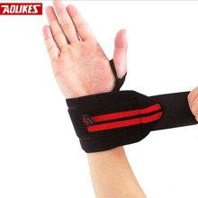 2pcs Wristband Wrist Support Weight Lifting Gym Training Wrist Support Brace Straps Wraps Crossfit Powerlifting Bodybuilding(China)