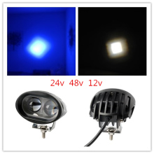 9-80V blue 48v 24v 3inch 64v 20w  Light Vehicle Safety Lamp LED Forklift light fork truck concave spot beam to Linde Hyster yale