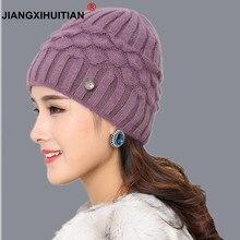 Marca suave conejo doble tejer grueso bonnet beanie caps solid sombreros de  invierno caliente para las mujeres casquillo de skul. 9c1f07d2cb26
