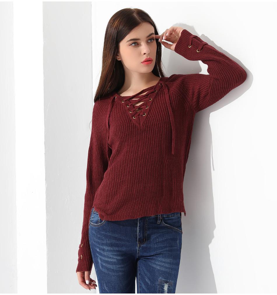 Women's Pullover Long Sleeve KnittedSweater 39
