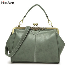 New Arrival Top-Handle Bags Retro Style Women Messenger Bag Luxury Should Bags Metal Frame Lock Closure Type Handbags