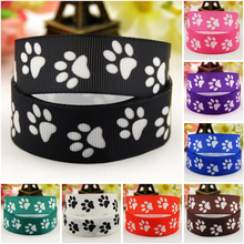 7/8'' (22mm) Dog paw Cartoon Character printed Grosgrain Ribbon party decoration satin ribbons OEM 10 Yards