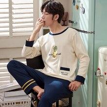 J   Q Новинка 2019 г. мужская одежда для сна с вышивкой ананаса 5689a72c4f331
