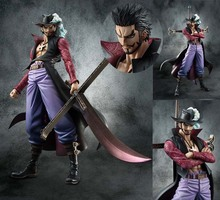 Japanese Anime POP One Piece Hawk Eye Dracule Mihawk Figure Figurine 22cm