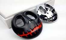 2pc Metal Halloween Town Pumpkin King Skull Car-styling Stickers Decoration Metal JACK Skellington Skull Car Emblems Accessories(China)