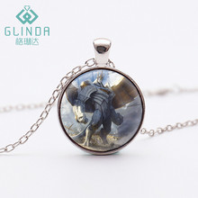 Glinda Hot Game League of Legends The Colossus Galio Silver Plated Necklaces Debonair Galio Black LOL Skins Jewelry