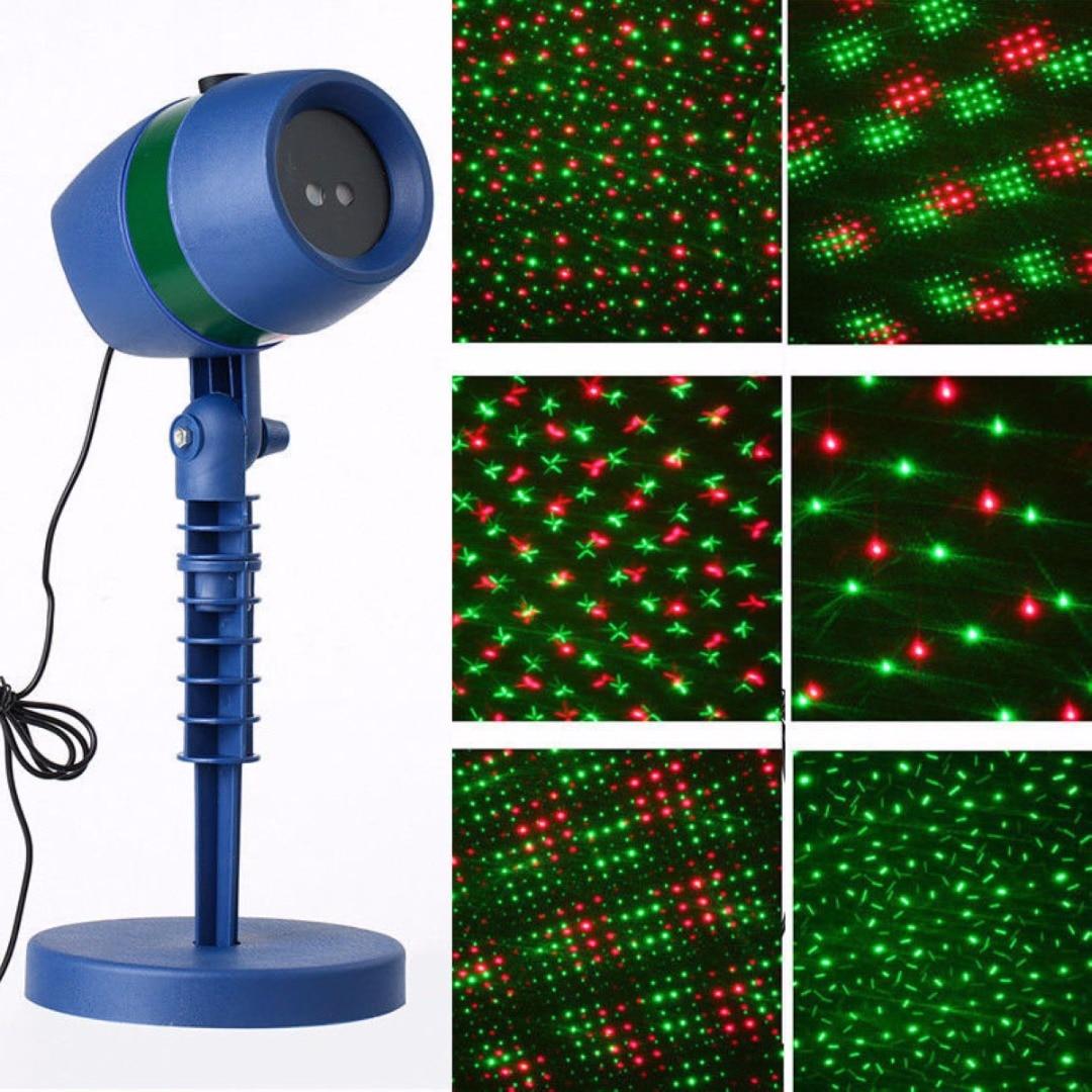 IKVVT New Laser Light Projection Outdoor Garden Laser Projector Moving Light Christmas<br>