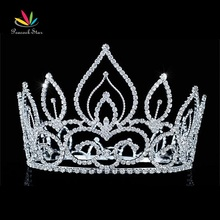 "Peacock Star Vintage Style Pageant Beauty Contest Tall 4.5"" Tiara Full Circle Round Crystal Crown CT1693"