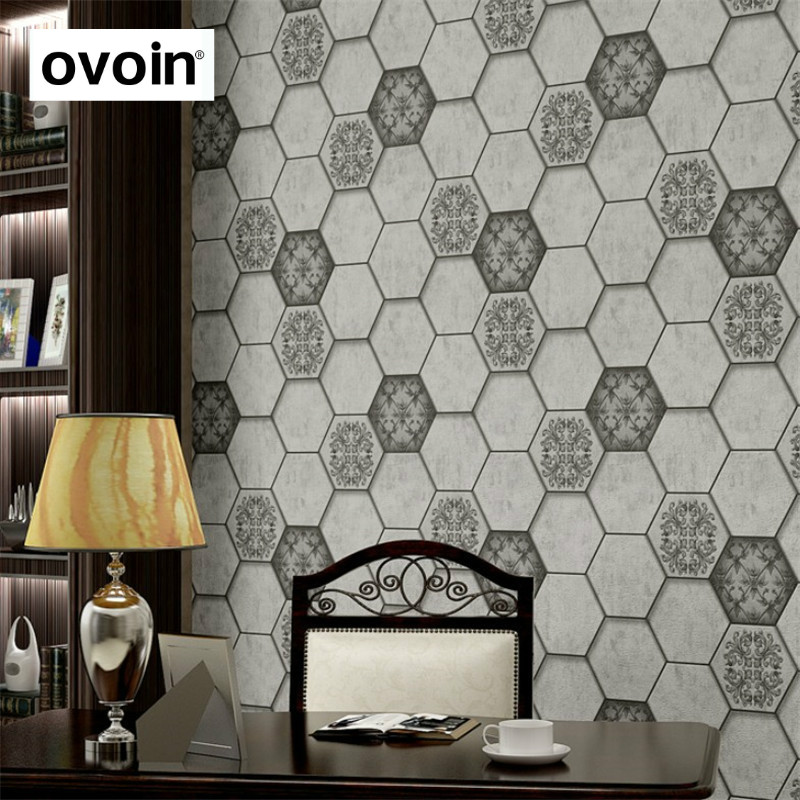 Vintage Embossed 3D Wallpaper Gray Rolls Geometric Vinyl  Wallpaper Home Decor<br>