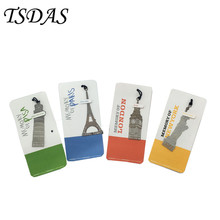 20pcs Europe Building Bookmark Big Ben, Eiffel Tower, Pisa Tower And The Statue of Liberty Metal Bookmarks For Books(China)