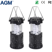 AGM Portable Lantern LED Camping Lanterns Tent Light Rechargeable Outdoor Powerful FlashLight Hand Crank Lamp For Hiking Fishing(China)