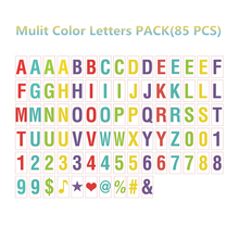 Mulit Color Letters Symbols & Glyphs & Numbers Card FOR A4 Size Cinematic Light box( Include 85pcs)