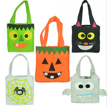 Halloween Gift Bags with Handle For Women Girl Pumpkin Ghost Bat Witch Printed Tote Bags Festival Packaging Bags Kids Candy Bag
