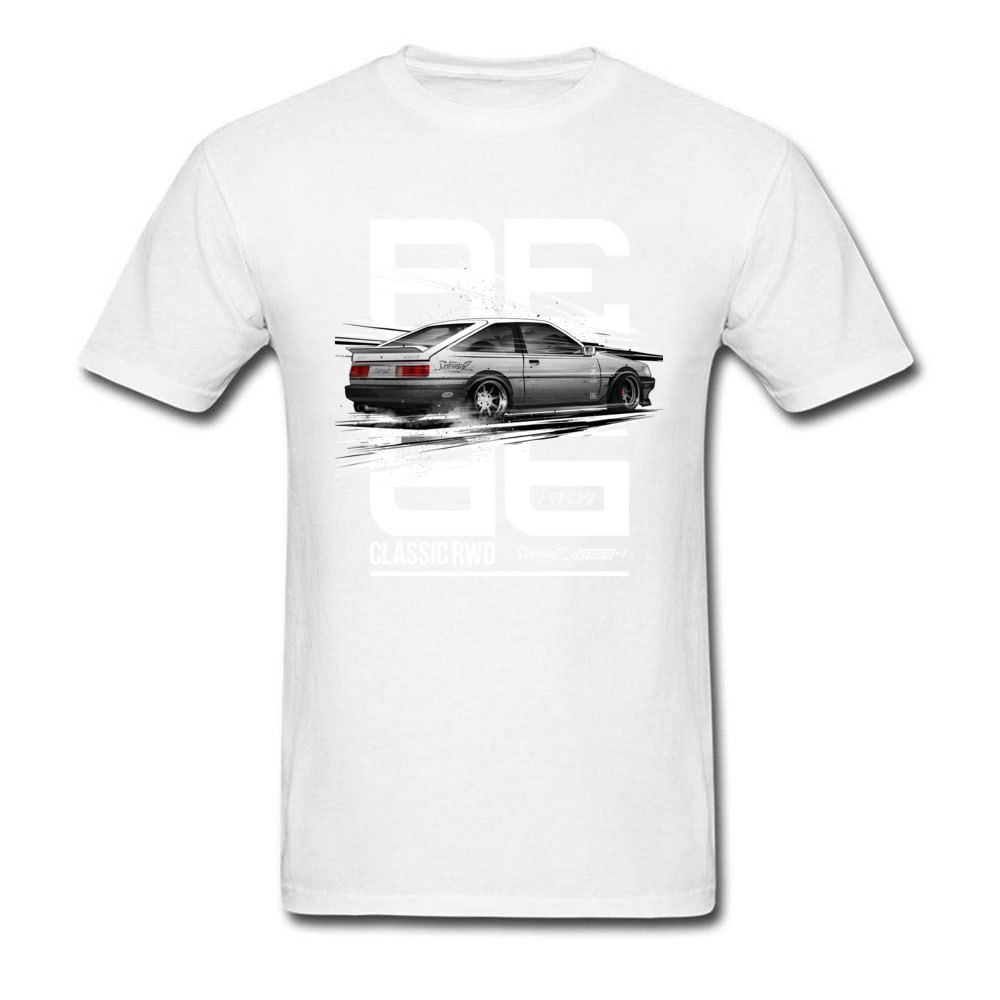 Leisure CLASSIC RWD DRIFT SERIES ae86 T-shirts for Men 2018 Popular Father Day Round Neck 100% Cotton T-shirts Tops & Tees CLASSIC RWD DRIFT SERIES ae86 white