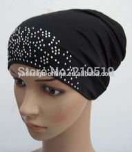 black islamic turban white tube muslim underscarf