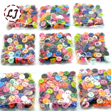 Free Shipping Resin Sewing Button Round 9mm( 0.34in) Dia accessory scrapbooking for child cloth Candy color child button DIY(China)