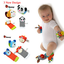 Baby Rattle Toys Wrist Foot Finder Small Soft Baby Boy Toy for 0-12 Months Children Infant Newborn Plush Socks Brinquedos(China)