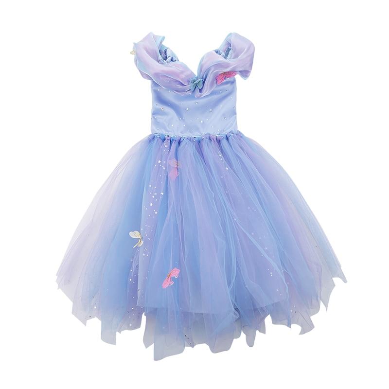 Butterfly Sequin Star Diamond Princess Dress Girls Dress New Year gauze dress costumes<br>