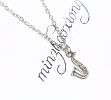 "Cute Saxophone Pendant 18"" Chain Necklace ~ Jazz Music Blues(China)"