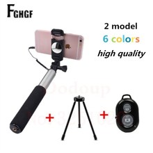 Buy FGHGF New Universal Mirror Wired Extendable Selfie Stick Bluetooth Tripod Monopod iPhone Android IOS Mobile Phone Samsung mi for $9.66 in AliExpress store
