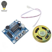 ISD1820 recording module voice module the voice board telediphone module board with Microphones + Loudspeaker for arduino(China)