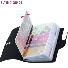 FLYING BIRDS women&men card holder name ID Business Card Holders High Quality Leather 156 Bank credit Card Case Hasp LM4358fb(China)