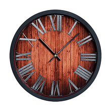 Vintage Antique Style 30 cm Wall Clock Home Bedroom Retro Kitchen Quartz (Vintage Style 30cm With Roman Numerals)(China)