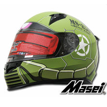 MASEI 850 Green zaku full face helmet motorcycle helmet mens womens helmet ABS high quality racing DOT ECE approved helmet