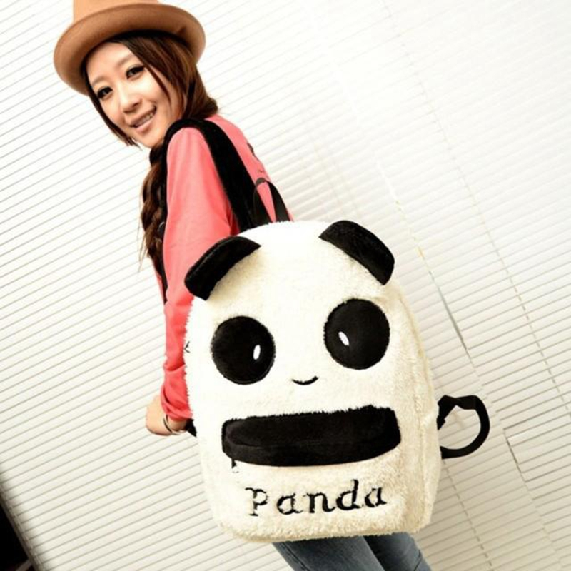 Купить canvas backpack cute soft animal panda bag zippers mochilas escolares adolescentes femininas #0830 цена, описание, фото,