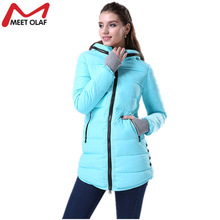 Winter Coat Women Parka 2017 Hooded Warm Cotton Padded Girl Student Long Jackets Overcoat abrigos mujer invierno chaquetas YL007(China)