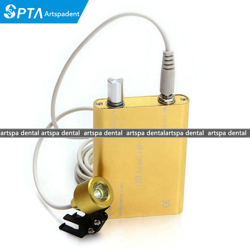 Portable LED Head Light Lamp for Dental Surgical Medical Binocular Loupes<br>
