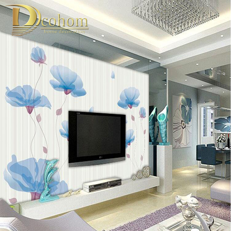 Custom Large Photo Wallpaper For Bedroom Living Room Sofa TV Background Wall Decor Flower Mural Wall paper<br><br>Aliexpress