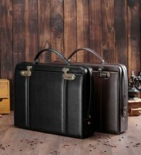 briefcases Tool case handbag toolbox security equipment Leather briefcase lock file case toolbox  41.5*30.5*9cm shipping free