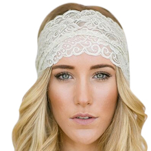 Womens Knitted Turban Headbands Stretch Lace Hair towel Scarf Crochet Headband Head Wrap Hairband Girls Hair Accessories