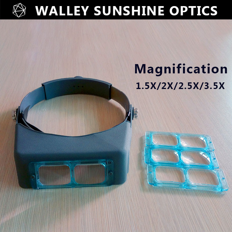 Optivisor Head Wearing Magnifier Magnifying Glass Eye Loupe Headset Watchmaker Repair Magnifying Glasses Headband Magnifier<br><br>Aliexpress