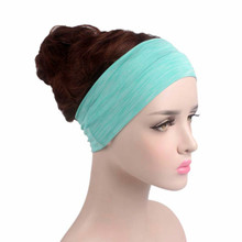 Men's Women Fashion Cotton higher Stretchy Yoga Sport Headbands Lady Make Up Hair Bands Headband Turban Grils Hair Accessories