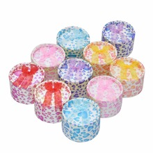 12Pcs Mixed Color Jewelry Gift Round Paper Boxes Organizers for Ring Earring Necklace Bracelet 5x5x3.5cm