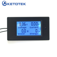 Digital Voltage ampere Power Energy meter monitor DC 6.5~100V 100A/50A Optional LCD Blue backlight Voltmeter Ammeter(China)