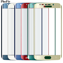 PhoFir Full Cover tempered glass Screen Protector For Samsung Galaxy S6 Edge Curved Original Green Black Rose Gold Red Blue