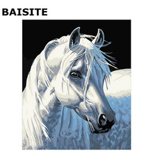 BAISITE Frameless DIY Painting Pictures By Numbers Hand Painted Canvas Modern Wall Picture For Living Room Home Decor Wall Art(China)