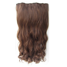 Soloowigs Loose Wave High Temperature Fiber Women 24inch/ 60cm Hair Pad 7 Clip-in Synthetic Hair Extensions(China)